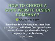 How to choose a good website design company