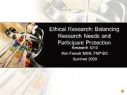 Ethics in Nursing Research