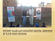 Rotary club ldh greater Dental seminar at S.S.B high school