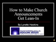 How to Make Church Announcements