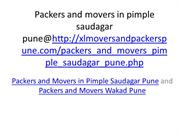 packers and movers in pimple saudagar pune @ Wakad pune