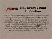 Live Event Sound Production
