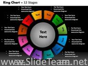 12 Staged Donut Chart for Business Process