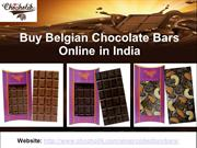 Buy Belgian Chocolate Bars Online in India