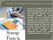 Get Proven Translation And Interpreting Services From Reputed Translat