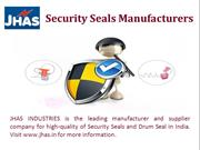 Security Seals Manufacturers