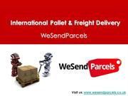 International Pallet & Freight Delivery Service Provider