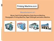 Flexographic Printing Machine Manufacturer and Supplier delhi