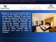 Stay in Haridwar Hotel With Private Ghat