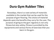Dura Gym Rubber Tiles