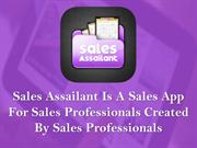 Sales App For Sales Professionals Created By Sales Professionals