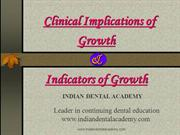 clinical Implications and Indicators of Growth1