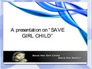 Save the girl child