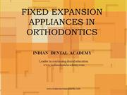 FIXED EXPANSION APPLIANCES/fixed orthodontic courses by Indian dental
