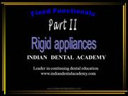 fixed functional /fixed orthodontic courses by Indian dental academy