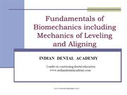 LEVELLING&ALIGNING/fixed orthodontic courses by Indian dental academy