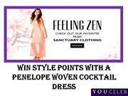 Win style points with a Penelope Woven Cocktail Dress