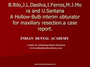 hollow bulb obturator jc /certified fixed orthodontic courses by IDA