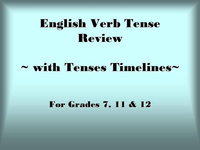 Verb tenses with timelines authorstream ccuart Images
