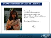Department Chair Welcome MessageV3