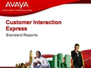AVAYA  CALL CENTER REPORTING