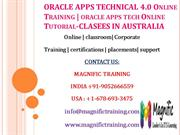 ORACLE APPS TECHNICAL 4.0 Online Training % oracle apps tech Online Tu