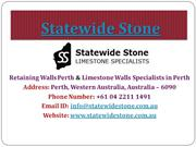 Limstone Retaining Walls Perth