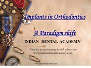 Implants in Orthodontics /certified fixed orthodontic courses by IDA