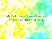 Men's Spring Summer Trends