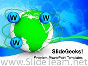 WEB BASED GLOBAL COMMUNICATION POWERPOINT BACKGROUND