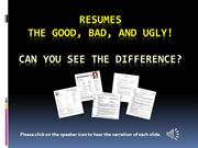 Good and Bad resumes (2)