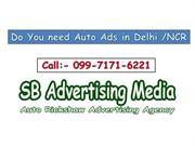 Do you  need Auto rickshaw Ads in Delhi