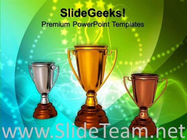 WINNERS TROPHY COMPETITION POWERPOINT BACKGROUND PowerPoint Template