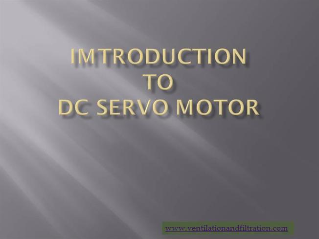 dc servo motor working principle pdf