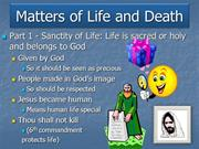 Gateacre RS GCSE - Matters of Life and Death