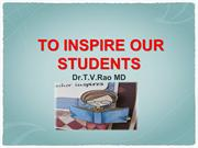 To Inspire our students