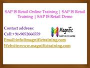 SAP IS Retail Online Training | SAP IS Retail Training