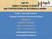 SAP PS online training CLASSES AND CERTIFICATION in AUSTRALIA,CANADA