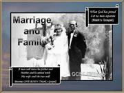 Gateacre RS GCSE - Marriage and Family