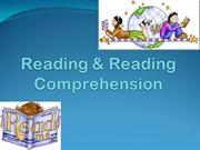 Reading & Reading Comprehension