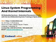 Embedded systems training India Linux System Programming