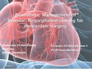 Anaesthetic management of valvular heart disease for non cardiac surge