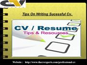 Tips On Writing Sucessful Cv