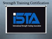 Strength Training Programme