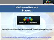 Stem Cell Therapy Market by Treatment Mode & Therapeutic Applications