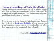 How to Increase the audience of Trade Show Exhibit
