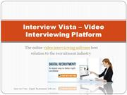 Video Interviewing Platform - Interview Vista