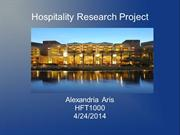Hospitality Research Project