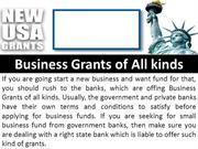 Get Grants For Different Purposes