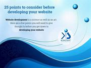 PPT - 25 points to consider before developing your website